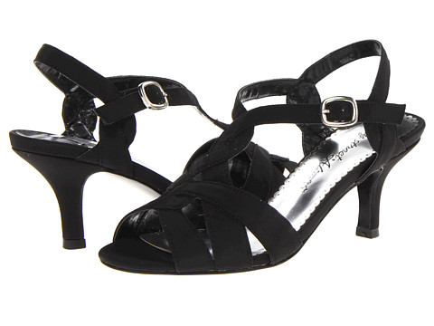 Easy Street - Glamorous (Black Peau w/Leather Outsole) High Heels