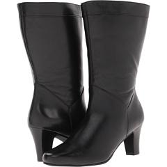 Fitzwell Duchess Extra Wide Calf (Black Nappa) Footwear
