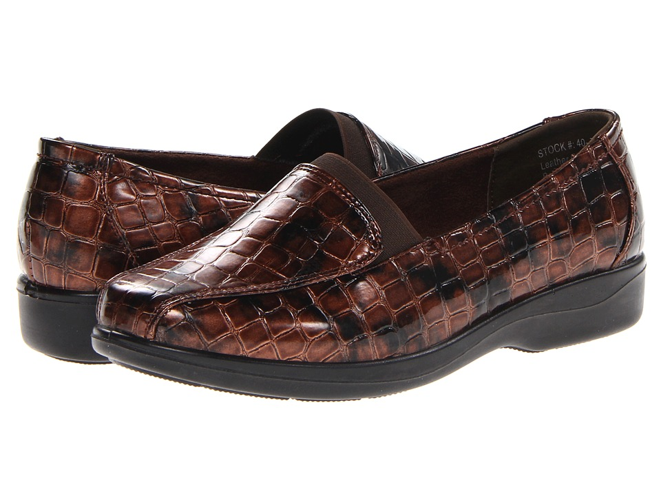 Easy Street - Gage (Copper Patent Croco) Women's Shoes