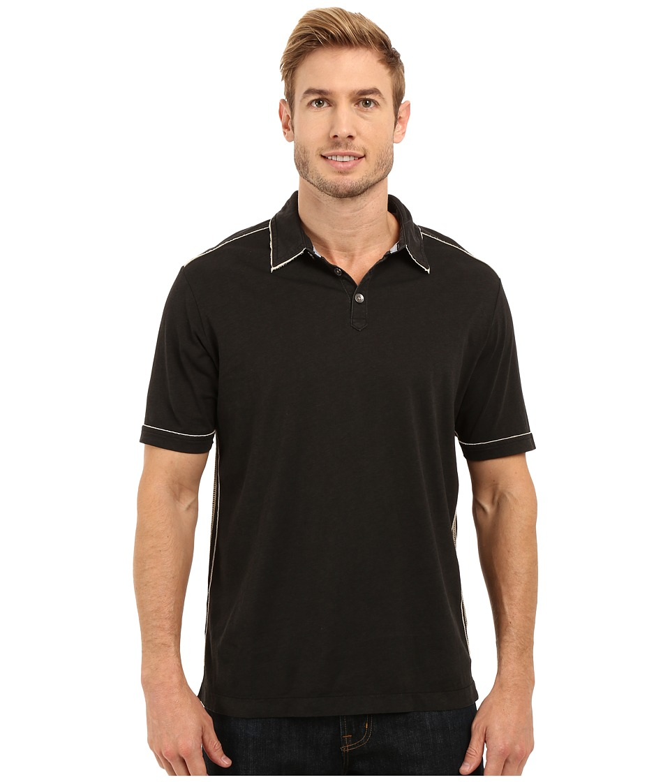 Tommy Bahama - New Fray Day Polo (Black) Men's Short Sleeve Pullover