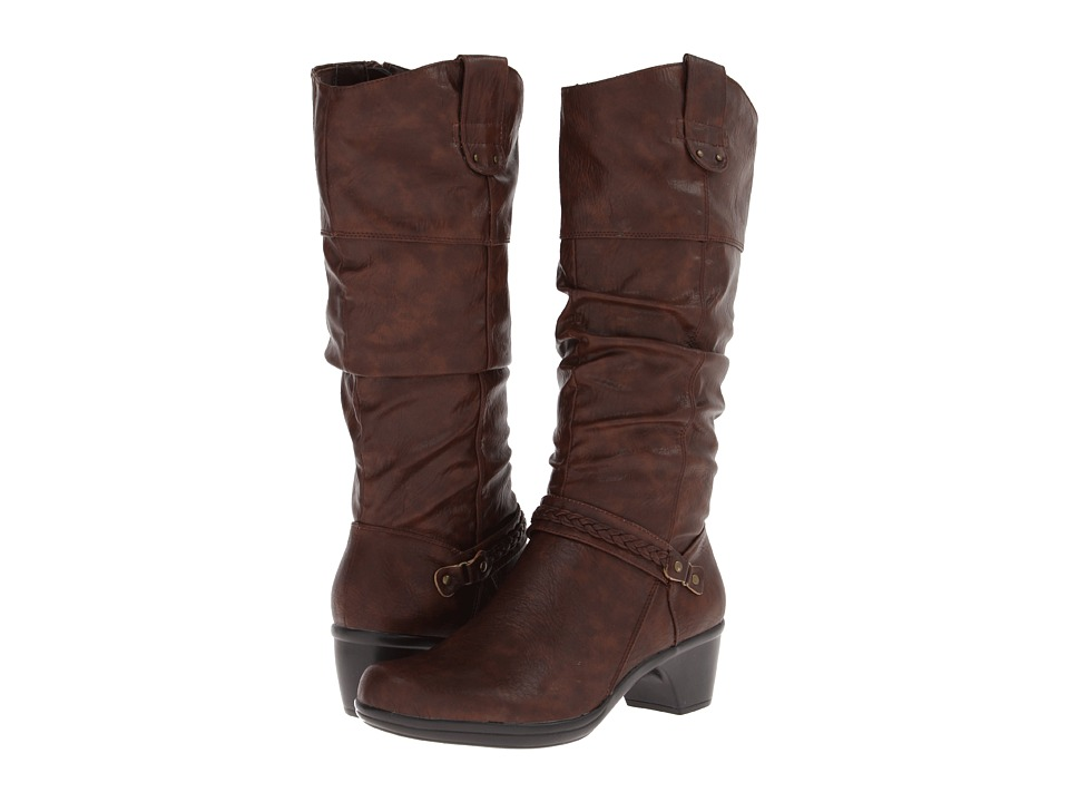 Easy Street - Joya (Tan Burnish) Women's Boots