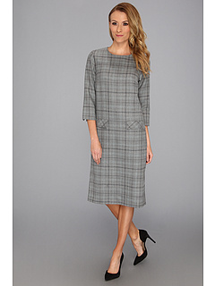 SALE! $79.99 - Save $118 on Pendleton Stitch Worsted Plaid Brentwood Dress (Grey Stitched Worsted Plaid) Apparel - 59.60% OFF $198.00