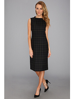 SALE! $64.99 - Save $93 on Pendleton Worsted Wool Simone Sheath Dress (Black Worsted Windowpane) Apparel - 58.87% OFF $158.00