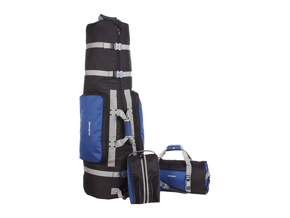 Athalon - Samsonite for Athalon - Deluxe 3-Piece Golf Travel Set (Blue/Black) Duffel Bags