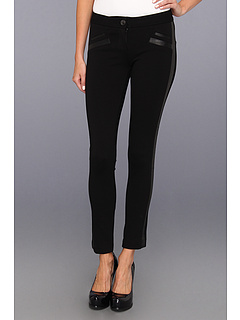 SALE! $81.99 - Save $187 on Paige Lucia Ultra Skinny Ponte Leather in Black (Black) Apparel - 69.52% OFF $269.00
