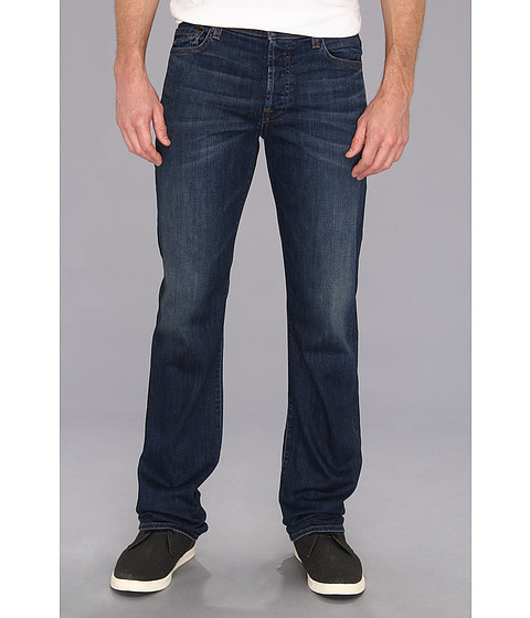 7 For All Mankind - Luxe Performance Standard Straight in Half Moon Blue (Half Moon Blue) Men
