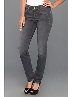SALE! $104.99 - Save $84 on 7 For All Mankind The Slim Cigarette in Grey Sateen (Grey Sateen) Apparel - 44.45% OFF $189.00