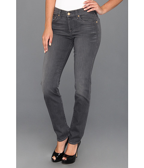7 For All Mankind - The Slim Cigarette in Grey Sateen (Grey Sateen) Women