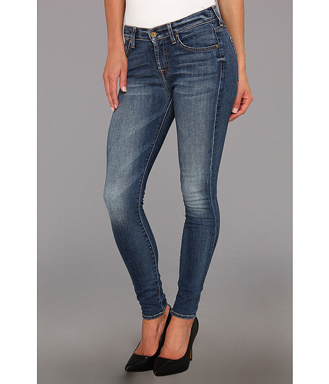 7 For All Mankind - The Ankle Skinny in Destroyed Rue De Lille (Destroyed Rue De Lille) Women