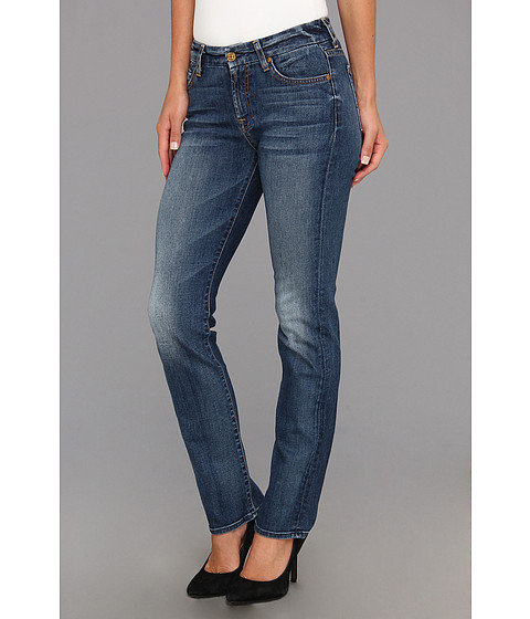 7 For All Mankind - Short Inseam Kimmie Straight Leg in Destroyed Rue De Lille (Destroyed Rue De Lille) Women's Jeans