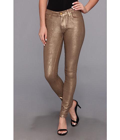 7 For All Mankind Metallic Double Knit Skinny in Bronze (Bronze) Women's Jeans