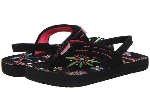 Reef Kids - Little Ahi (Infant/Toddler/Little Kid/Big Kid) (Black/Pink/Burst) Girls Shoes