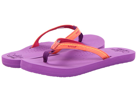 Reef Kids - Little Stitched Cushion (Infant/Toddler/Little Kid/Big Kid) (Purple/Coral) Girls Shoes