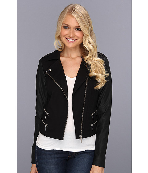 MICHAEL Michael Kors - Zipper Jacket (Black) Women's Jacket