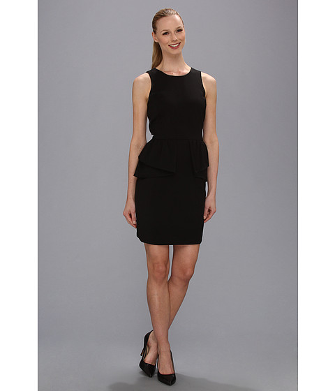 MICHAEL Michael Kors - Peplum Dress (Black) Women's Dress