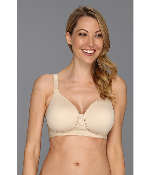 Vanity Fair - Back Smoother Full Figure Wirefree Contour Bra (Damask Neutral) Women