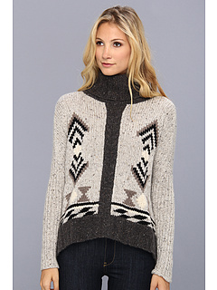 SALE! $224.99 - Save $270 on Autumn Cashmere Southwestern Dolman Sleeve Cowl Neck Sweater (Pebble Combo) Apparel - 54.55% OFF $495.00