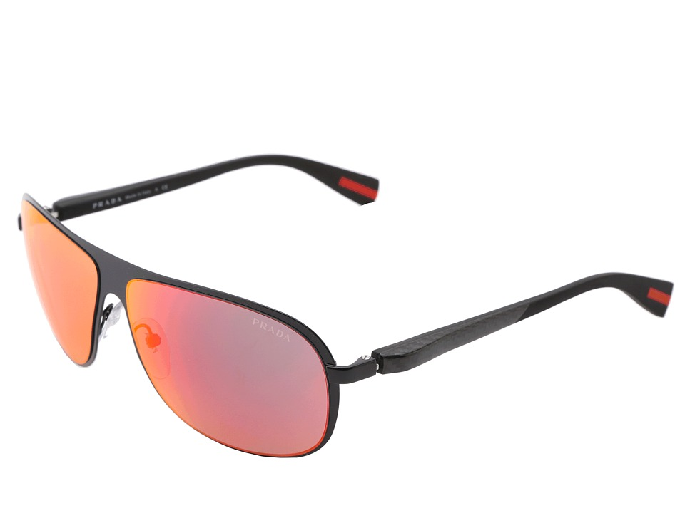 Prada Linea Rossa - PS 56OS (Black/Red Multilayer) Fashion Sunglasses