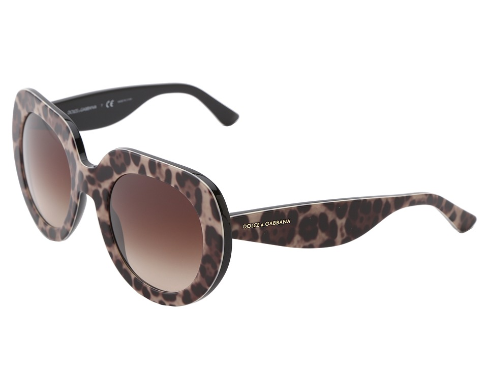 Dolce & Gabbana - DG4191P (Leopard/Brown Gradient) Fashion Sunglasses