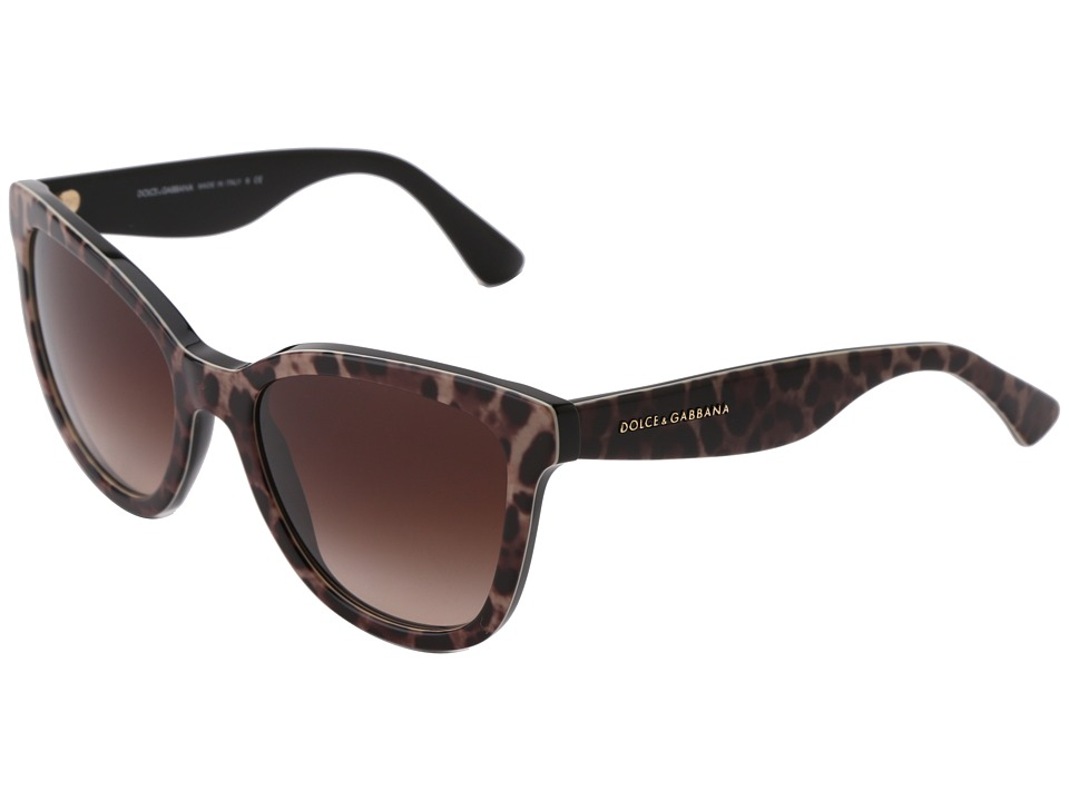 Dolce & Gabbana - DG4190 (Leopard/Brown Gradient) Fashion Sunglasses