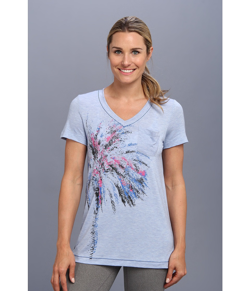 Lole - Aimee Top (Sail Blue Heather) Women's Short Sleeve Pullover