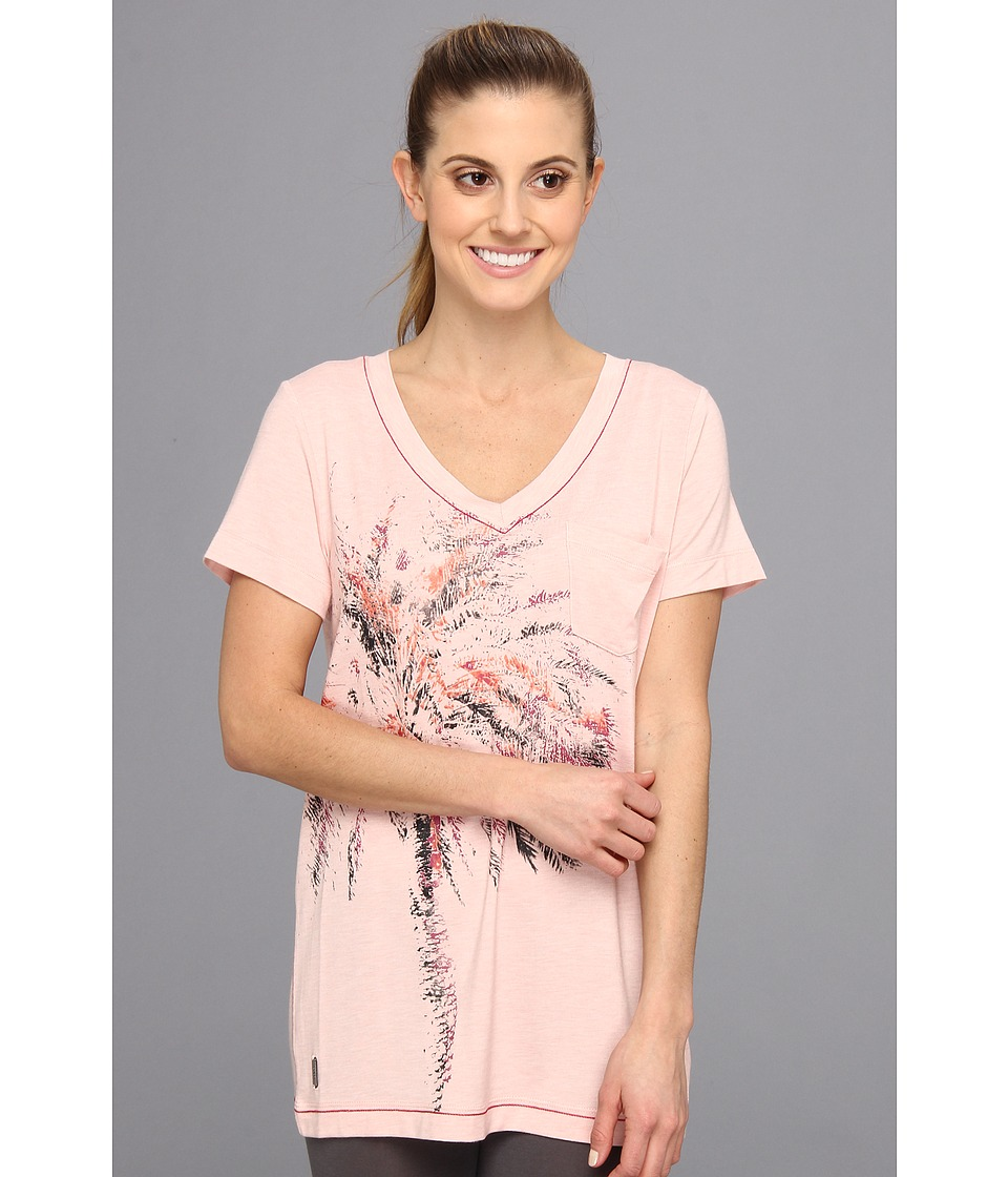 Lole - Aimee Top (Rose Water Heather) Women's Short Sleeve Pullover