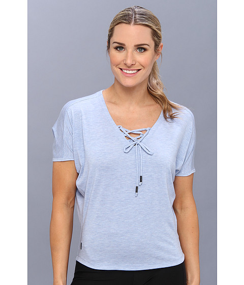Lole - Audrey 2 Top (Sail Blue Heather) Women's Short Sleeve Pullover