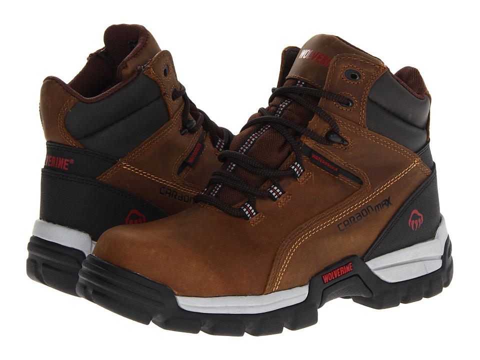 Wolverine - Tarmac Comp Toe 6 Boot (Brown) Men's Work Boots