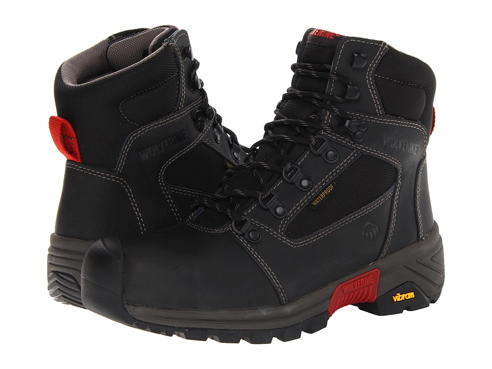 Wolverine - Mansard Comp Toe Mid-Cut Hiker (Black) Men's Work Boots