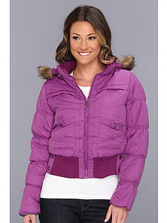 SALE! $16.99 - Save $43 on dollhouse Bomber Puffer Jacket (Plum) Apparel - 71.68% OFF $59.99