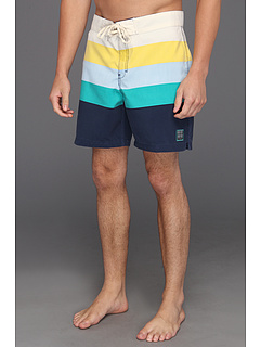 SALE! $14.99 - Save $35 on Insight Apparel Retro Daze Mid Boardshort (Black Out Blue) Apparel - 70.02% OFF $50.00