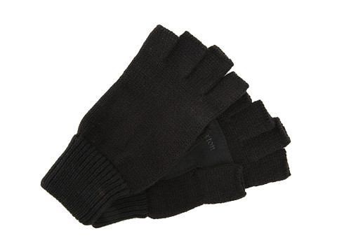 Brixton - Cutter Fingerless Gloves (Black/Black) Wool Gloves