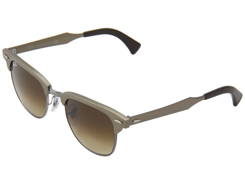 Ray-Ban - RB3507 Clubmaster Aluminum 49mm (Bronze) Metal Frame Fashion Sunglasses