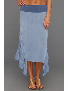 SALE! $34.99 - Save $78 on XCVI Suzette Skirt (Denim Blue) Apparel - 69.04% OFF $113.00