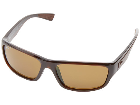 Ray-Ban - RB4196 Polarized 61mm (Brown) Polarized Fashion Sunglasses