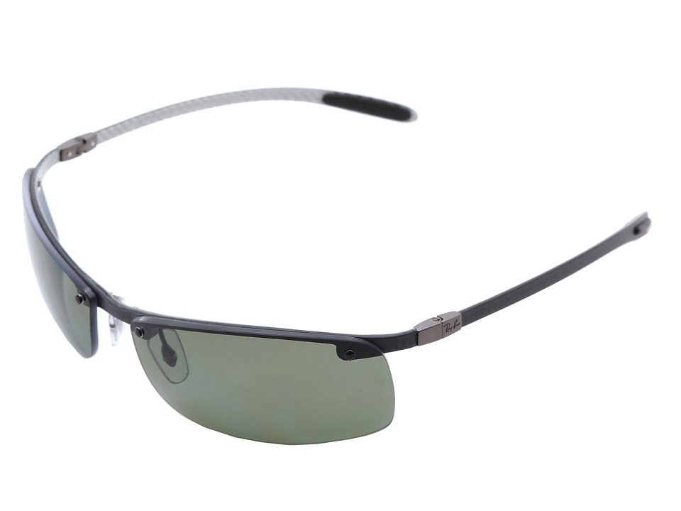 Ray-Ban - 0RB8305 Polarized 63 (Light Carbon/Green) Polarized Fashion Sunglasses