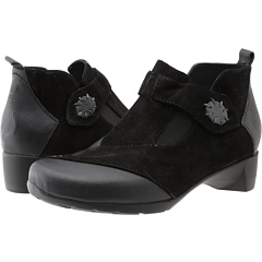 Wolky Namibia (Black Palermo Calf Suede) Footwear