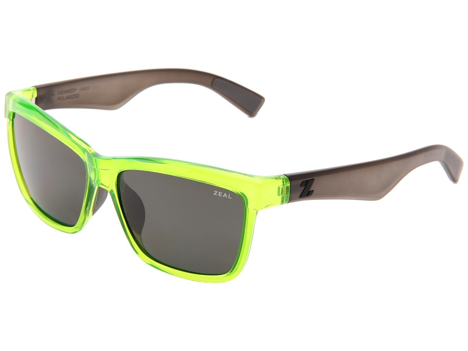 Zeal Optics - Kennedy (Atomic Green w/Dark Grey Polarized Lens) Sport Sunglasses