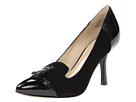 Anne Klein - Brettany (Black Suede/Black Patent) - Footwear
