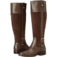 Anne Klein Cijiw Wide Calf (Dark Brown Combo) Footwear
