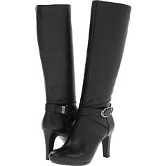 Anne Klein Cadencia (Black Leather) Footwear