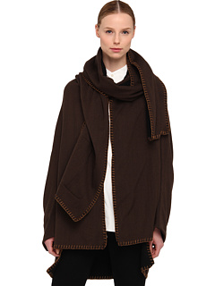 SALE! $484.99 - Save $1125 on Y`s by Yohji Yamamoto U Manteau With Sleeves (Brown) Apparel - 69.88% OFF $1610.00