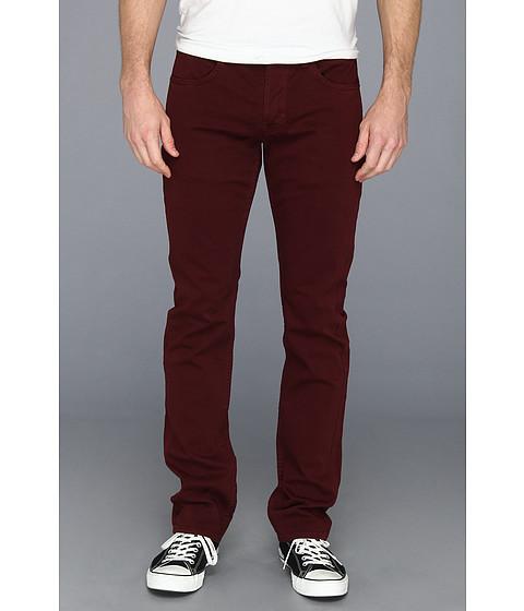 Hudson - Byron Straight Leg in Over-Dye Colors (Dark Burgundy) Men's Jeans