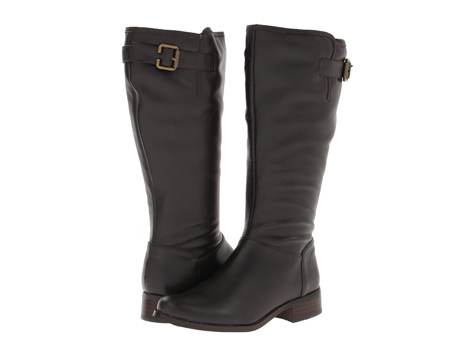 Fitzwell - Lauren Wide Calf Riding Boot (Dark Brown Calf) Women