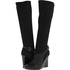 Fitzwell Elaine Tall Boot (Black Calf Black Stretch) Footwear