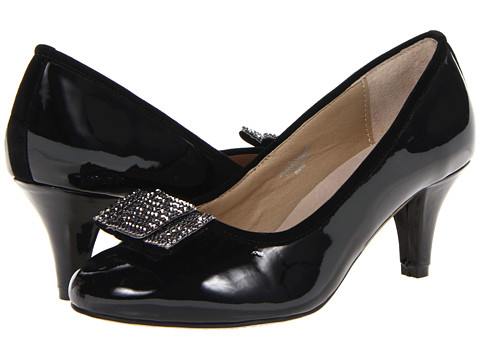 Fitzwell - Laura Bow Pump (Black Patent) High Heels