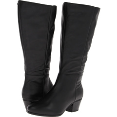 Fitzwell Tori Extra Wide Calf Boot (Black Calf) Footwear