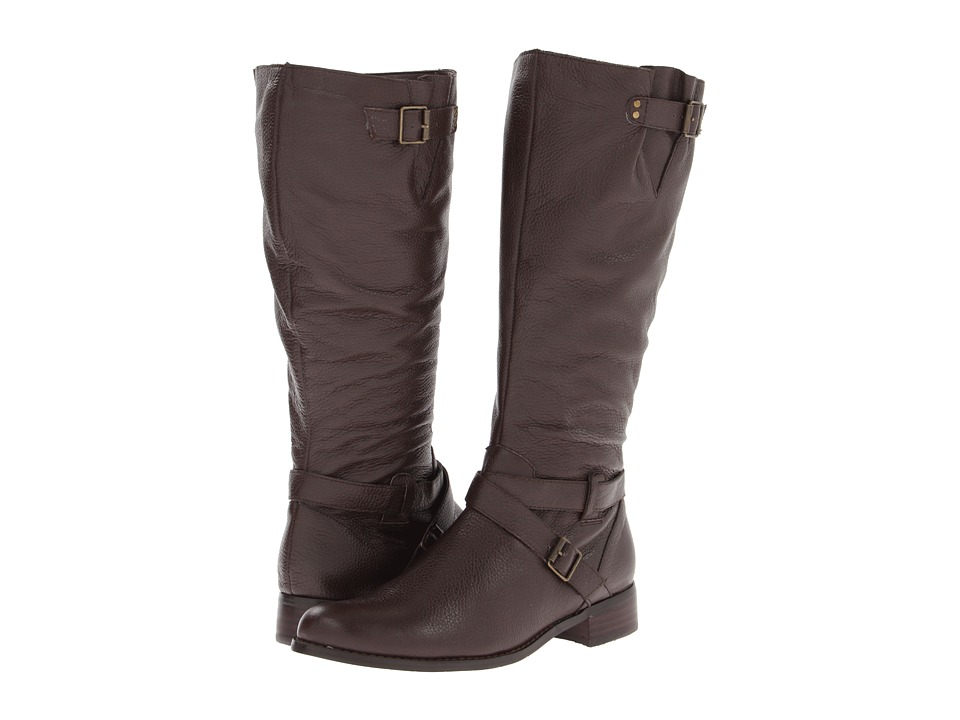 Fitzwell - Maggie Wide Calf Boot (Dark Brown Pebble Calf) Women