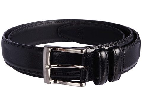 Florsheim - Big and Tall Pebble Grain Leather Belt (Black) Men