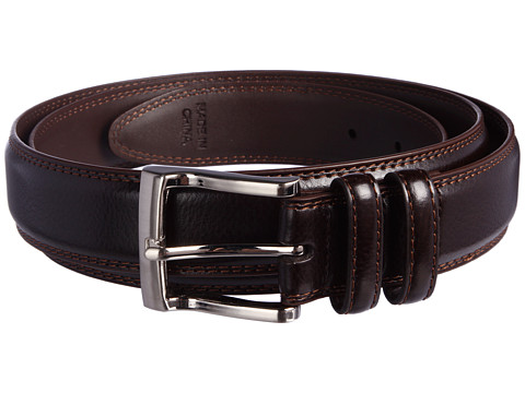 Florsheim - Big and Tall Pebble Grain Leather Belt (Brown) Men